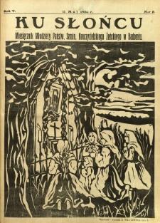 Ku Słońcu, 1930, R. 5, nr 8