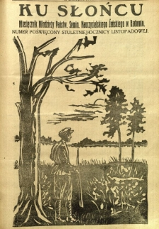 Ku Słońcu, 1930, R. 6, nr 3