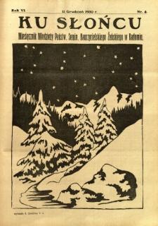 Ku Słońcu, 1930, R. 6, nr 4