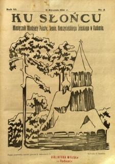 Ku Słońcu, 1931, R. 6, nr 5