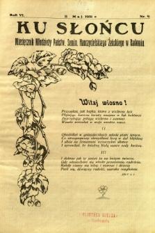 Ku Słońcu, 1931, R. 6, nr 9