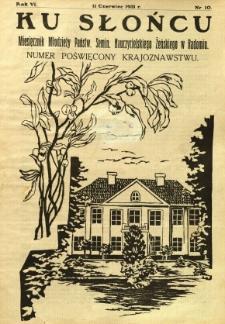 Ku Słońcu, 1931, R. 6, nr 10
