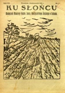Ku Słońcu, 1931, R. 7, nr 1