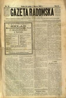 Gazeta Radomska, 1894, R. 11, nr 19