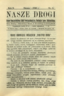 Nasze Drogi, 1928, R. 2, nr 3