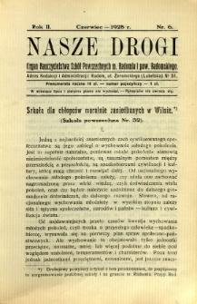 Nasze Drogi, 1928, R. 2, nr 6