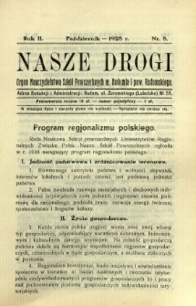 Nasze Drogi, 1928, R. 2, nr 8
