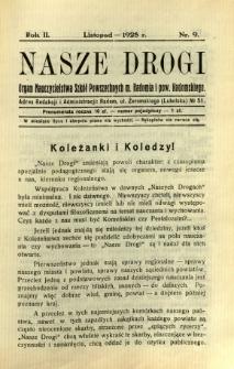 Nasze Drogi, 1928, R. 2, nr 9