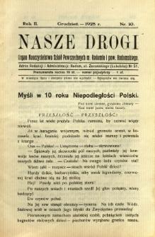 Nasze Drogi, 1928, R. 2, nr 10