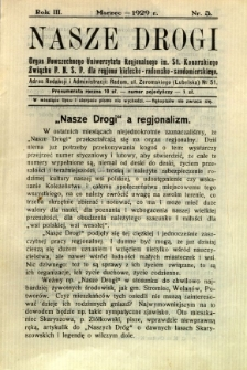 Nasze Drogi, 1929, R. 3, nr 3