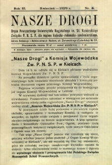 Nasze Drogi, 1929, R. 3, nr 4