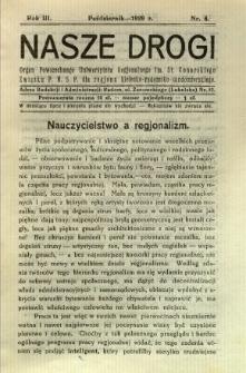 Nasze Drogi, 1929, R. 3, nr 8