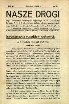 Nasze Drogi, 1929, R. 3, nr 9
