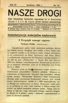 Nasze Drogi, 1929, R. 3, nr 10