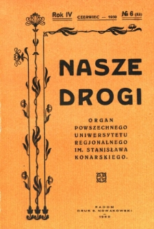Nasze Drogi, 1930, R. 4, nr 6