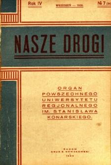 Nasze Drogi, 1930, R. 4, nr 7