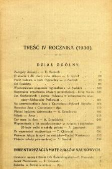 Nasze Drogi, 1930, R. 4 - Treść czwartego rocznika