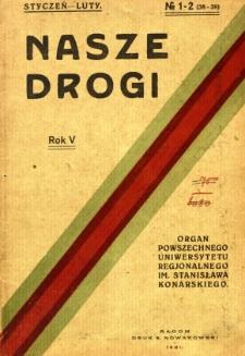 Nasze Drogi, 1931, R. 5, nr 1/2
