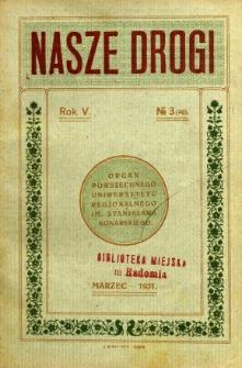 Nasze Drogi, 1931, R. 5, nr 3