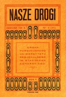 Nasze Drogi, 1931, R. 5, nr 4