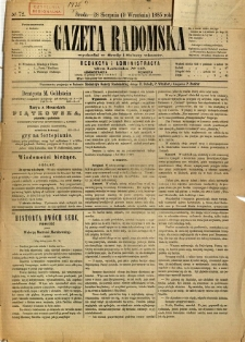 Gazeta Radomska, 1885, R. 2, nr 72