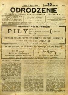 Odrodzenie, 1922, R. 5, nr 11