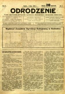Odrodzenie, 1922, R. 5, nr 17