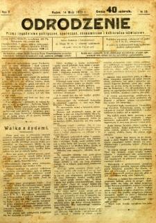 Odrodzenie, 1922, R. 5, nr 18