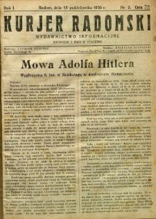 Kurier Radomski, 1939, R. 1, nr 2