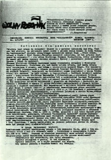 Wolny Robotnik, 1987, nr 4