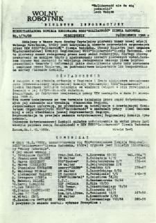 Wolny Robotnik, 1988, nr 1