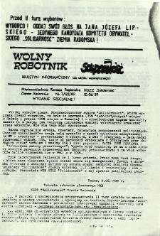 Wolny Robotnik, 1989, nr 7 - wydanie specjalne