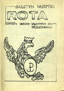 Biuletyn Radomski ROTA Komitetu Obrony Więzionych za Przekonania, 1981, [2]
