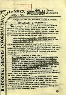 Radomski Serwis Informacyjny, 1981, nr 4