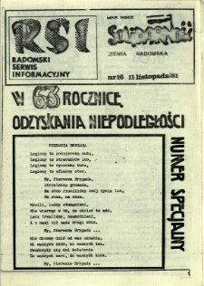 Radomski Serwis Informacyjny, 1981, nr 16