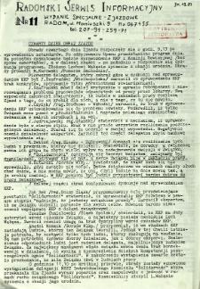 Radomski Serwis Informacyjny, 1981, wydanie specjalne-zjazdowe 11