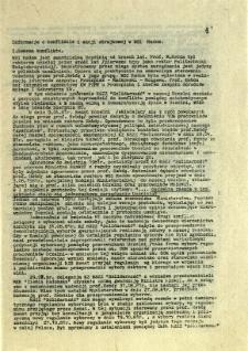 Informacje o konflikcie i akcji strajkowej w WSI Radom