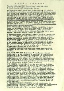 Biuletyn Strajkowy NSZZ Solidarność przy WSI w Radomiu, 1981-10-26