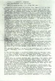 Biuletyn Strajkowy NSZZ Solidarność przy WSI w Radomiu, 1981-11-13/14