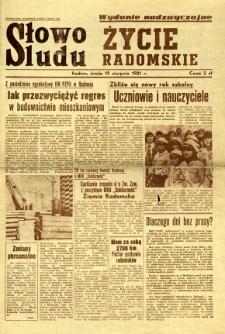 Słowo Ludu : Życie Radomskie, 1981, 1981-08-19
