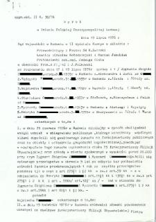 Wyrok w Imieniu Polskiej Rzeczpospolitej Ludowej, dnia 19 lipca 1976 r.