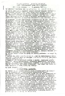 Biuletyn Strajkowy NSZZ Solidarność przy WSI w Radomiu, 1981-12-05