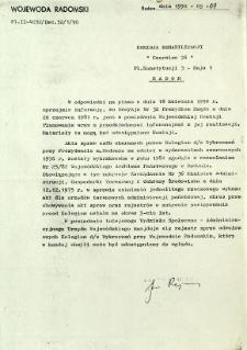W odpowiedzi na pismo z dnia 18 kwietnia 1990 r. ...