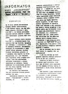 Informator NSZZ Solidarność : Komisji Zakładowej przy WSI, 1981, nr 7