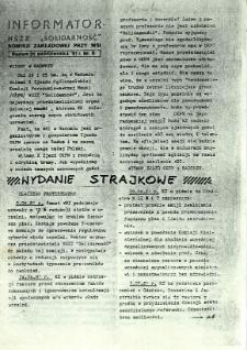 Informator NSZZ Solidarność : Komisji Zakładowej przy WSI, 1981, nr 8