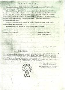 Oświadczenie, z dnia 7 listopada 1981 r.
