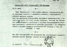 """Uchwała MKZ NSZZ """"Solidarność"""" MZK Warszawa"""
