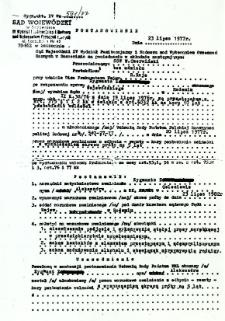 Postanowienie, z dnia 23 lipca 1977 r.