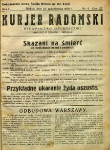 Kurier Radomski, 1939, R. 1, nr 4