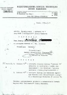 """Komisja Rehabilitacji """"Czerwiec '76"""" przy NSZZ """"Solidarność"""" Ziemia Radomska zaprasza ..."""
